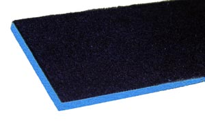 "PORON 1/8"" ABRADED W/NAVY FABRIC 54""X36"" - PORS00054"