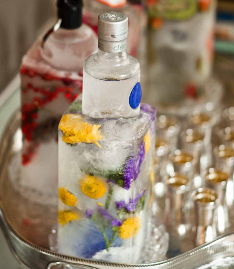 Impress Your Party Guests: Decorative, Frozen Bottle