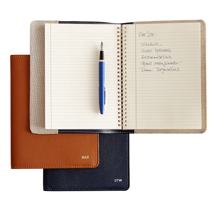 Mark AND Graham Leather Refillable Notebook