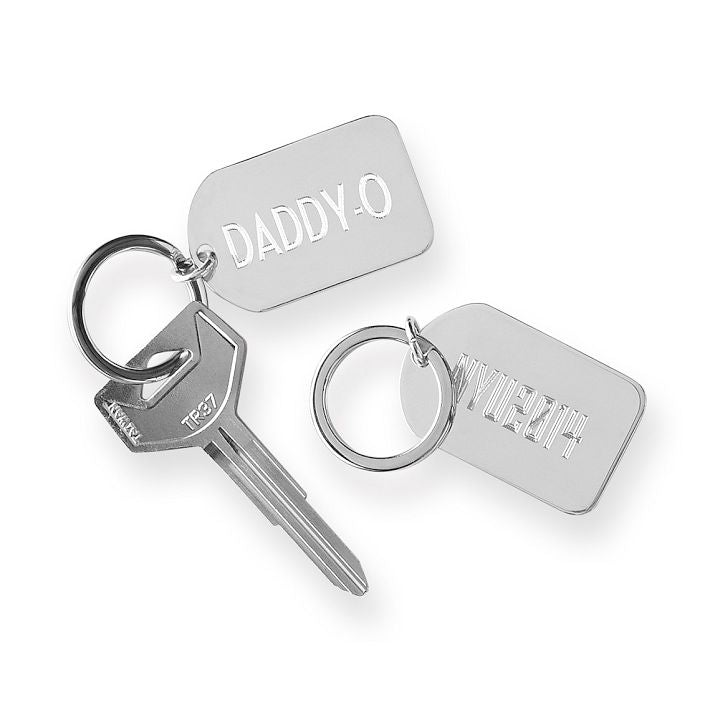 Mark AND Graham Silver Plated Key Fob