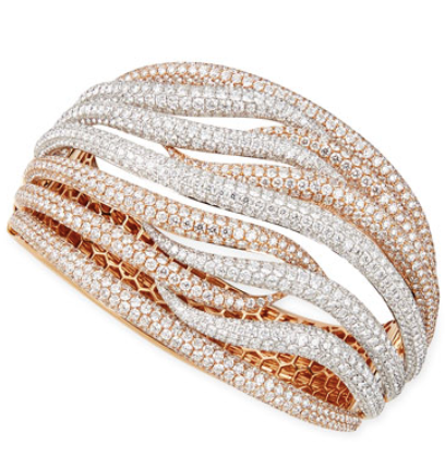 Pave Crossover Bangle