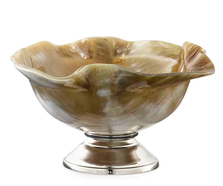 Ralph Lauren Horn  Bowl with Silver Base