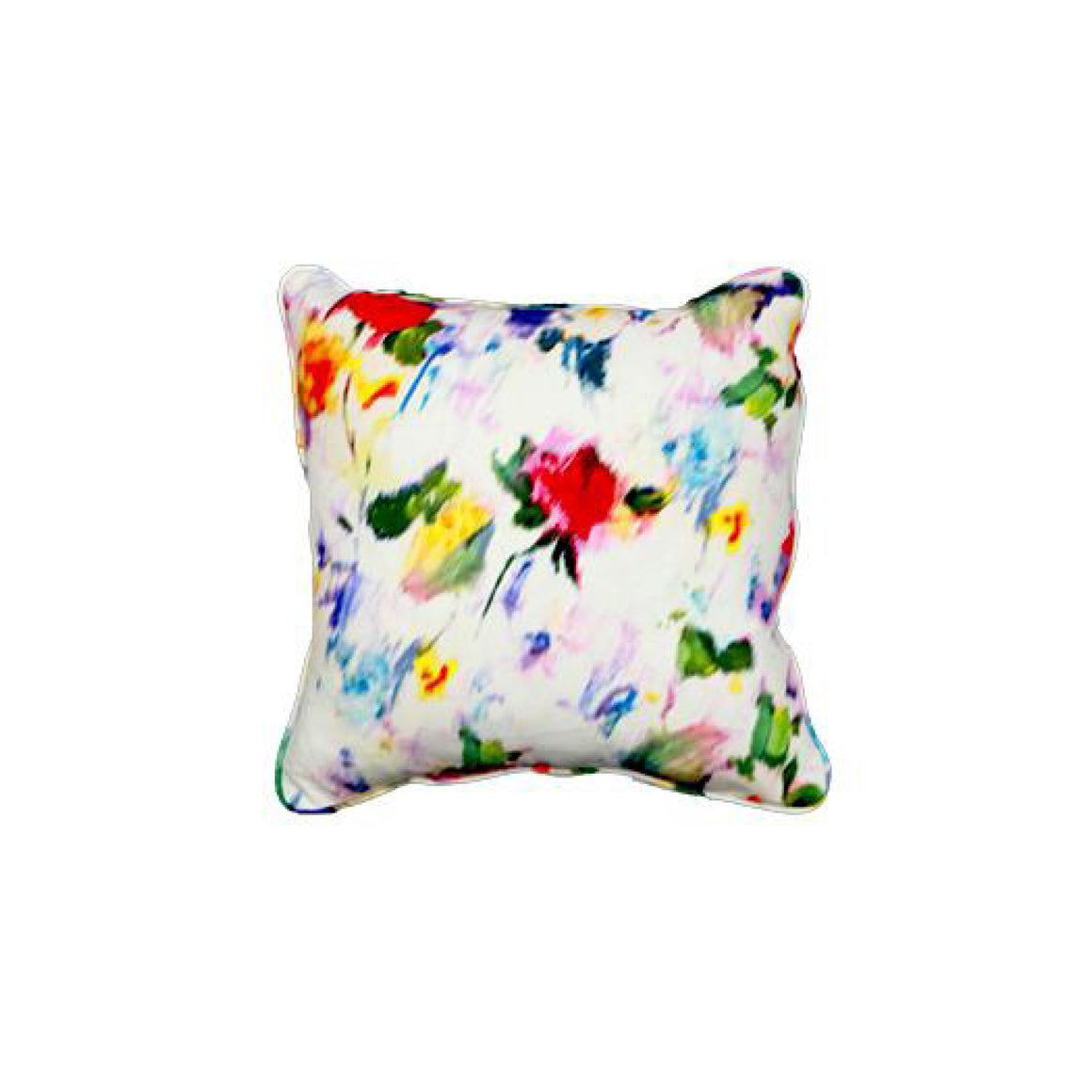 "17"" Floral Warp Print Pillow"