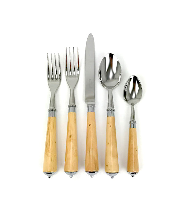 Boxwood Stainless Steel Cutlery 5 Piece Place Setting - Danielle D Rollins