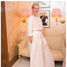 Cecil Skirt in Ivory Raw Silk