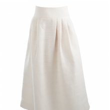 Cecil Skirt in Ivory Raw Silk - Danielle D Rollins
