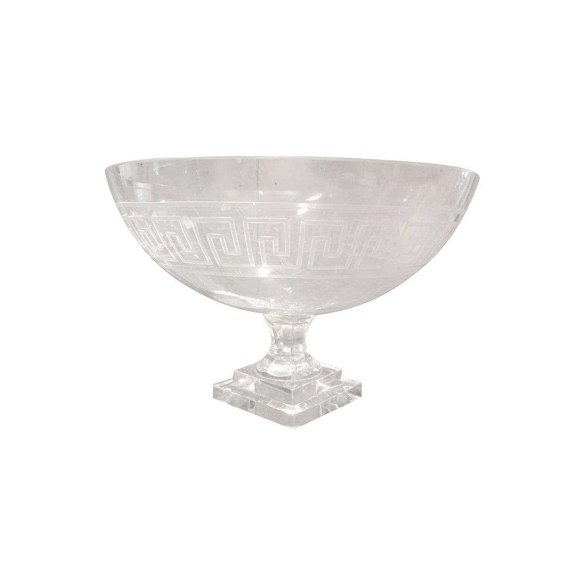 Greek Key Pedestal Bowl
