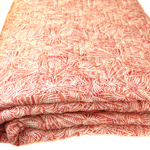 Pink Pablo Print Quilted Duvet Coverlet By Danielle Rollins
