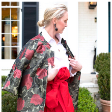 Lilly Jacket in Silk Rose Damask - Danielle D Rollins