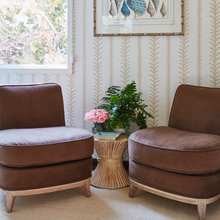 Pair of French Deco Slipper Chairs