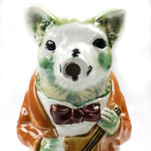 Majolica Pig Playing Banjo Pitcher - Danielle D Rollins