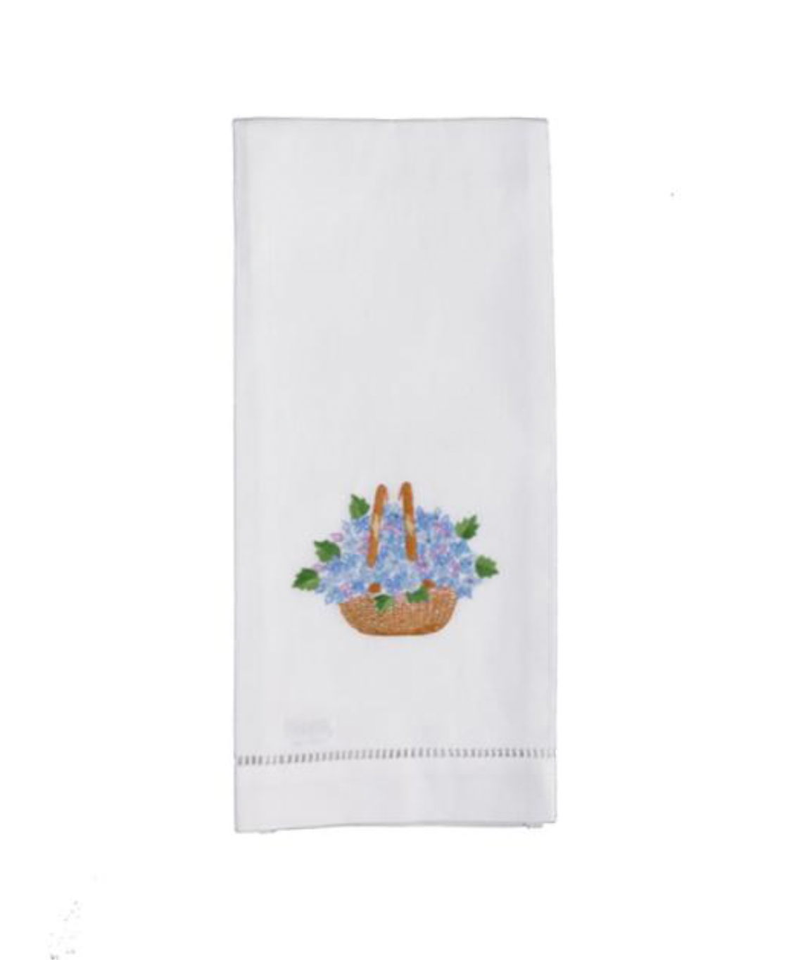 Hand Embroidered Nantucket Basket Hand Towels