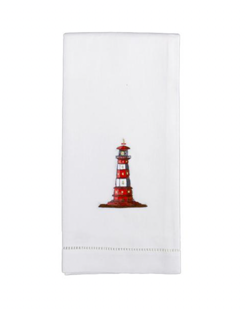 Hand Embroidered Lighthouse Hand Towels