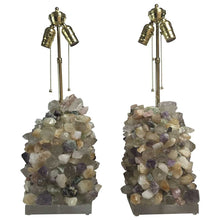 Pair of Amethyst And Rock Crystal Table Lamps
