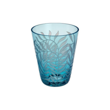 Crystal Tumblers with Engraved Leaf Pattern