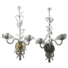 Art Deco Style Double-Arm Candle Sconces