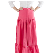 "Jackie ""Peasant"" Skirt in Solid Linen - Danielle D Rollins"