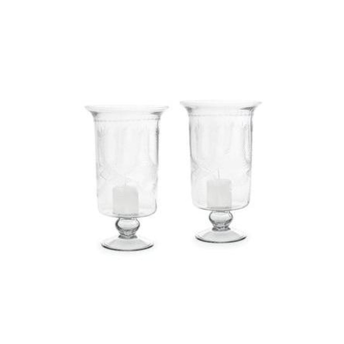 Pair of Wheat Hurricane Glasses