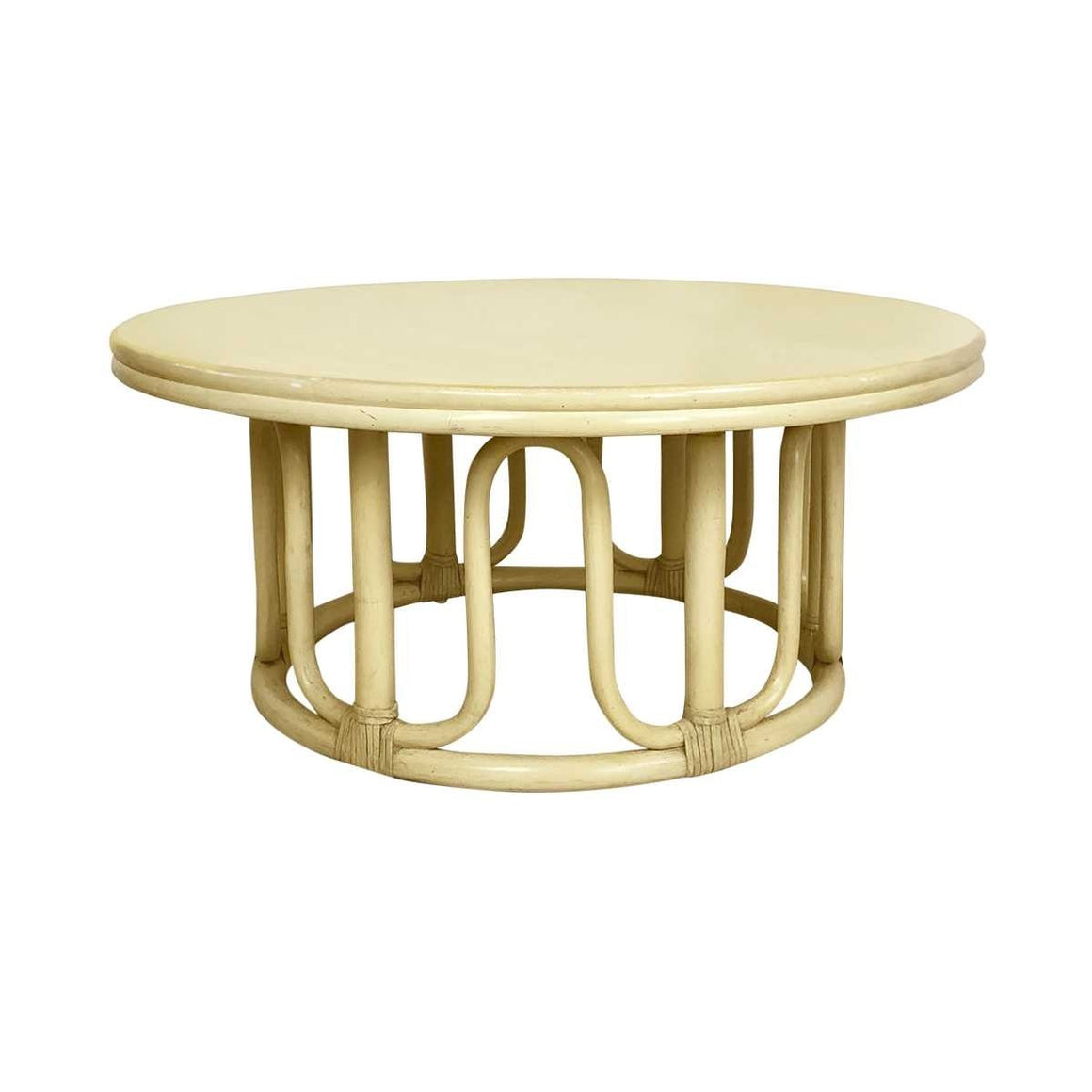 McGuire Furniture Company Round Cocktail Table
