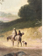 Two Men With A Horse Oil On Canvas