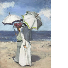 James Harrington Women With Parasols On The Shore