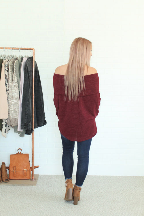 STELLA OFF THE SHOULDER SWEATER