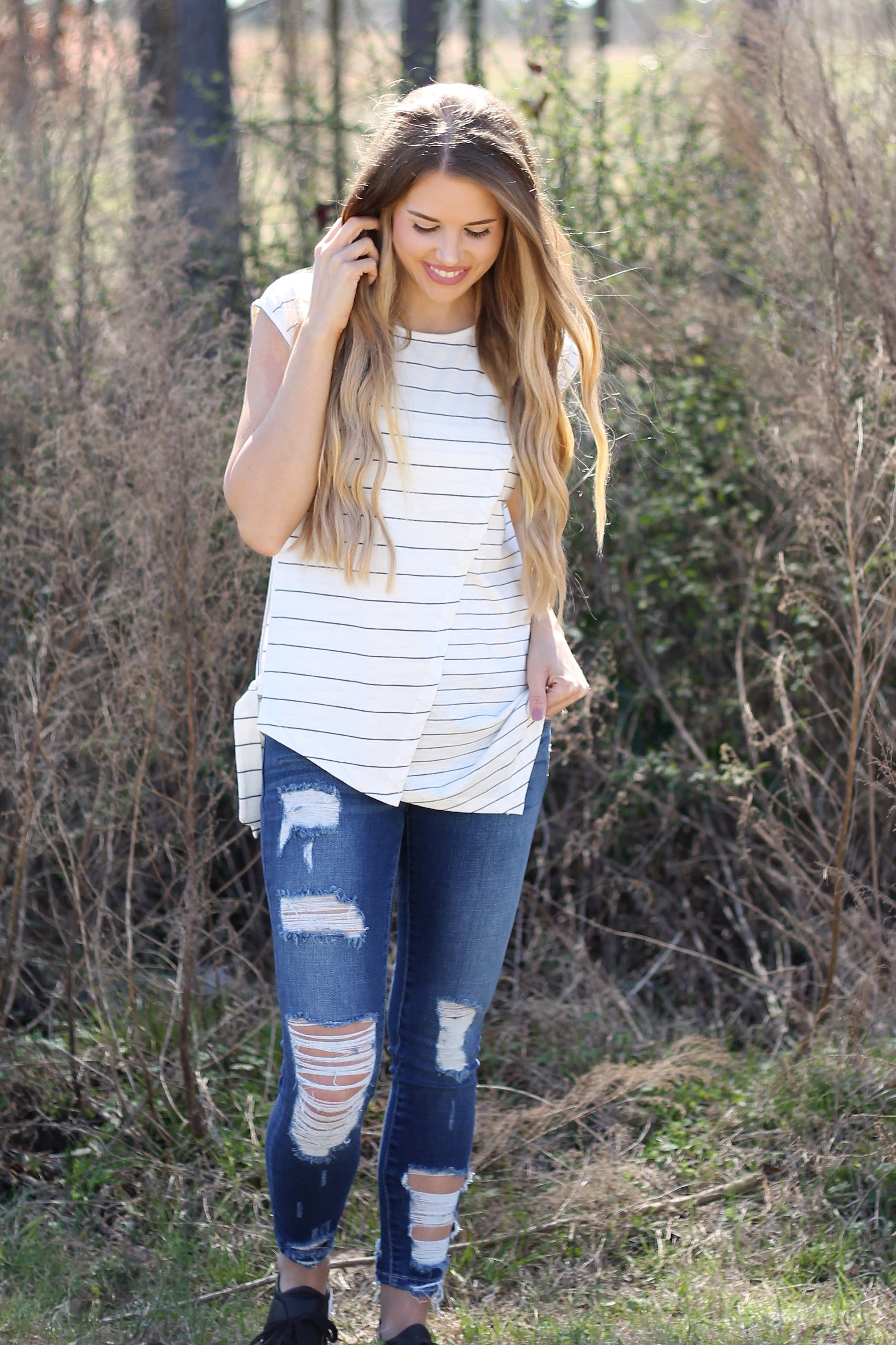 HARPER DISTRESSED DENIM