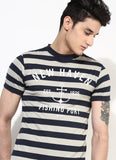 Organic Cotton Printed Stripe T-shirt