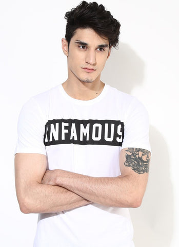 Men's Organic Cotton White T-shirt With Print