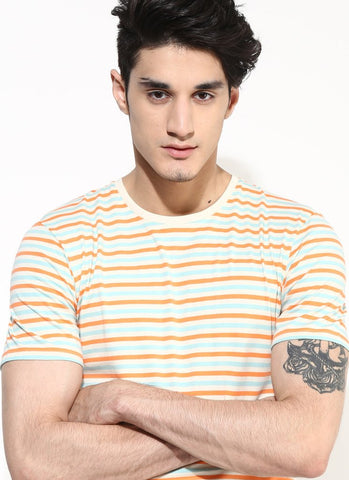 Men's Organic Cotton Summer Stripe T-shirt