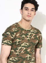 Organic Cotton Military Print T-shirt