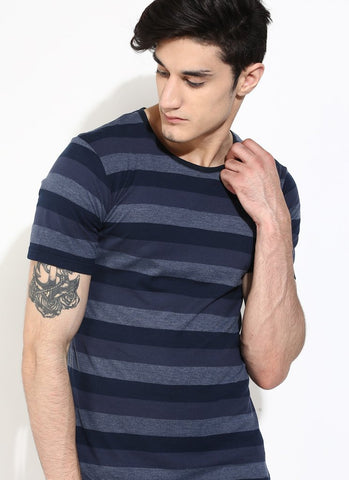Organic Cotton Blue Stripe T-shirt