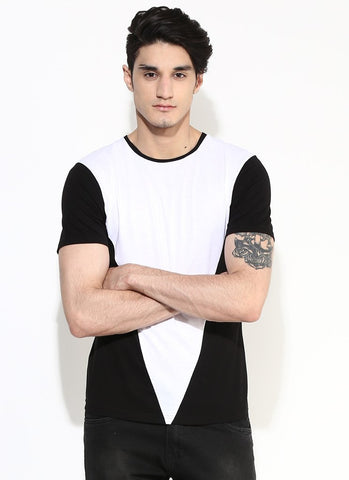 Men's Organic Cotton White Cut And Sew T-shirt