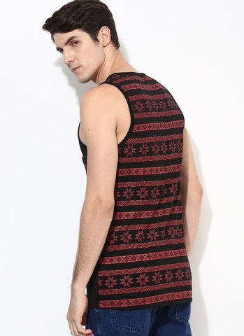 Organic Cotton Vest With Aztec Print