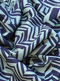 Blue Chevron Eri Silk Scarf