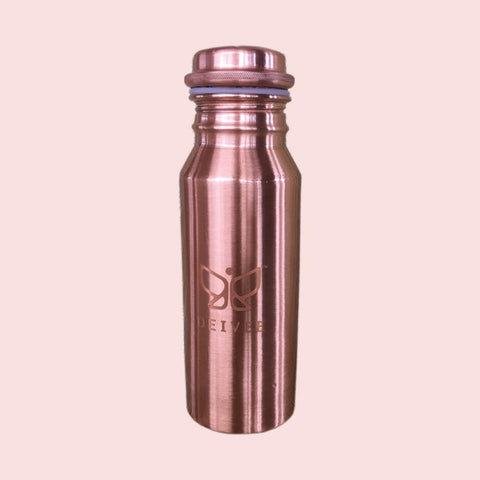 Travel Size Deivee Copper Bottle - Printed logo small