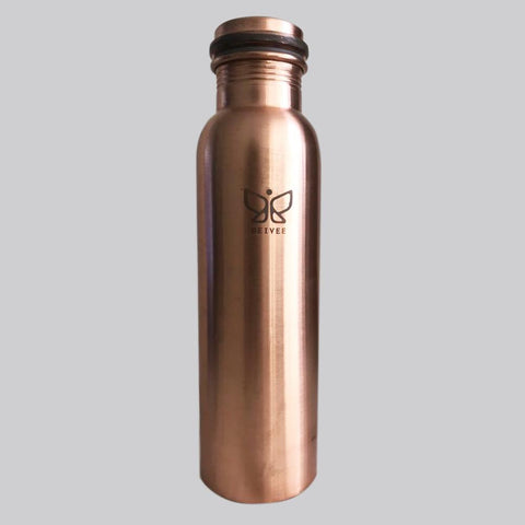 Deivee Copper water bottle - Matte finish printed logo