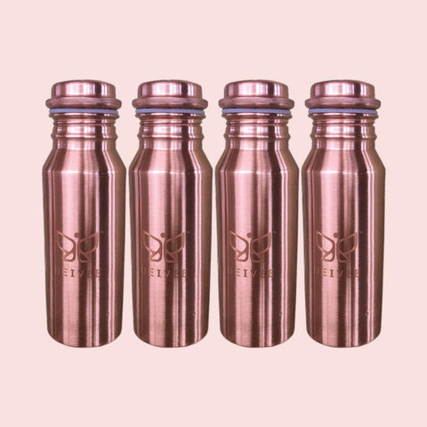 Combo - Travel Size Copper Water Bottles -4