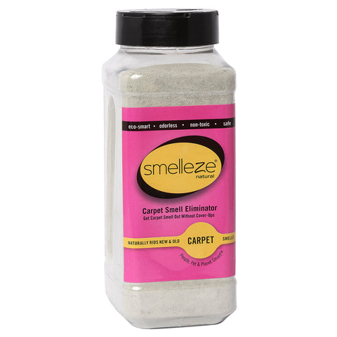 SMELLEZE Natural Carpet Odor Removal Deodorizer: 2 lb. Powder Removes Stench Fast