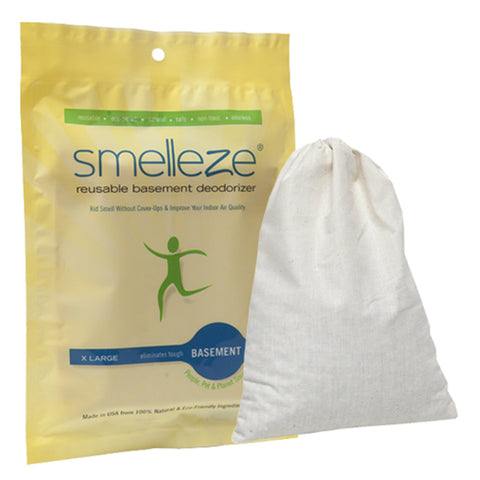 SMELLEZE Reusable Basement Odor Removal Deodorizer Pouch: Rids Musty  Smell Without Fragrance Treats 150 Sq. Ft.