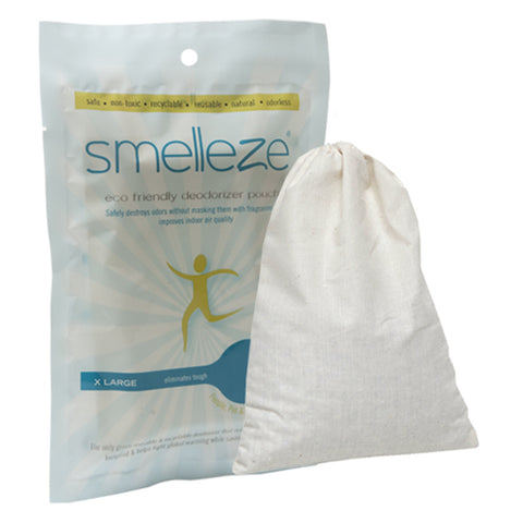SMELLEZE Reusable Car Smell Removal Deodorizer Pouch: Destroys Odor Without Fragrances in Any Auto