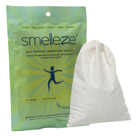 SMELLEZE Reusable Shoe Smell Removal Deodorizer Pouches: Kills Stink Without Fragrances in 1 Pr. Shoes