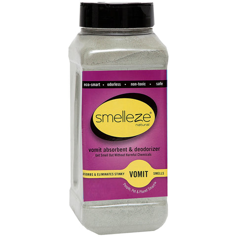 SMELLEZE Eco Vomit Absorbent & Odor Remover: 50 lb. Granules Stops Throw-Up Smell