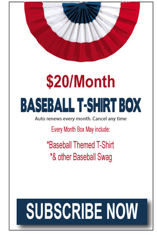 BASEBALL T-SHIRT MONTHLY SUBSCRIPTION BOX