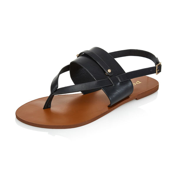 Black Thong Customizable Sandals