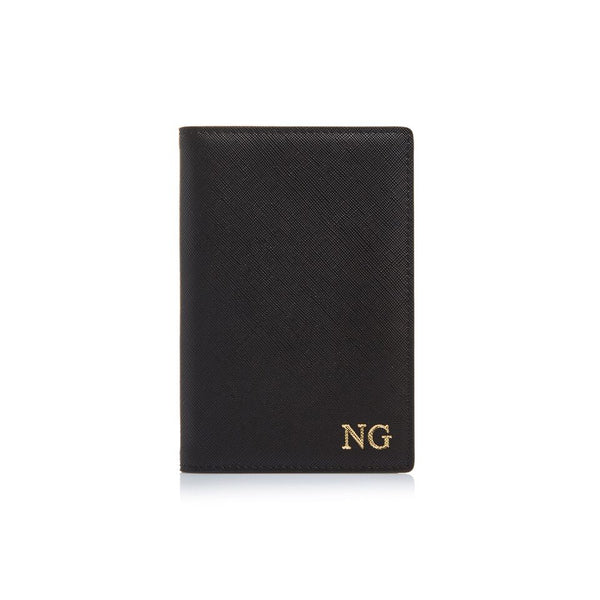 Black Passport Holder and Luggage Tag Set