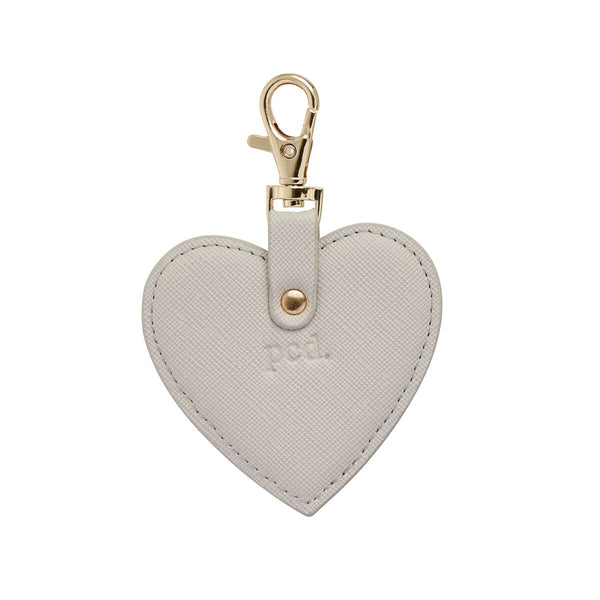 Grey Heart Keychain