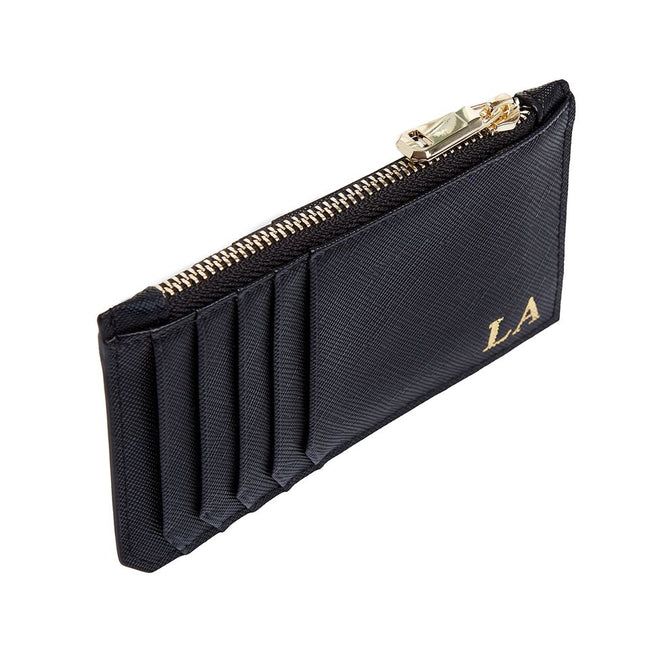 Black Card Holder with zipper
