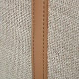 Beige Canvas Beach Bag