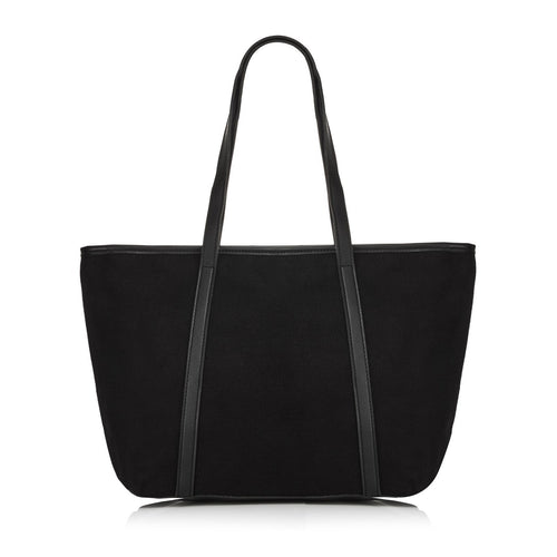 Black Canvas Beach Bag